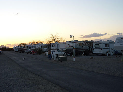 Valley Of The Sun RV Park In Tucson Arizona
